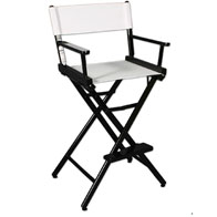 "Counter(30""H)Director Chair Frame w/Unprinted Canvas"