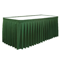 "13'x29""H Skirt Luster Accordian Pleat w/Omni II© Clips"
