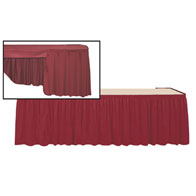 8' Skirt & Topper Set Luster Accordian Pleat