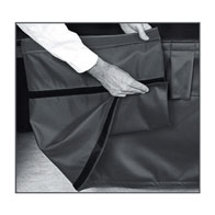 """1""""x15""""/23""""H Adjustable Stage Skirting Luster Box Pleat ($/ft-w/Hook fasteners)"""