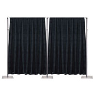 "54""x12'H Poly Velour Backdrop Drape"
