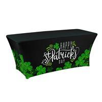 "Preprinted Holiday SuperStretch Cover 6' - Black ""Clover"""