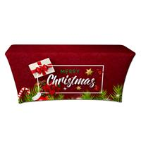 "Preprinted Holiday SuperStretch Cover 6' - Red ""Merry Christmas"""