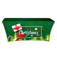 "Preprinted Holiday SuperStretch Cover 6' - Green ""Merry Christmas"""