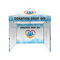 "10'x10' Tent Kit (Frame,Top,3 Full walls,Case)""Donation Drop Off"""