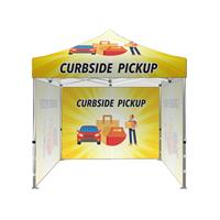 "10'x10' Tent Kit (Frame,Top,3 Full walls,Case)""Curbside Pickup"""