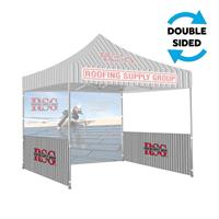10'x10' Printed Tent Side/Halfwall, 2-Sided