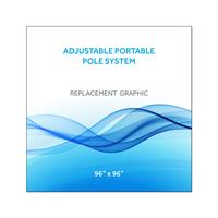 "Graphic 96""x96""H for Adj Portable Pole System"