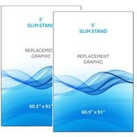 Graphic for 5' Radius Slim Stand™, 2-Sided