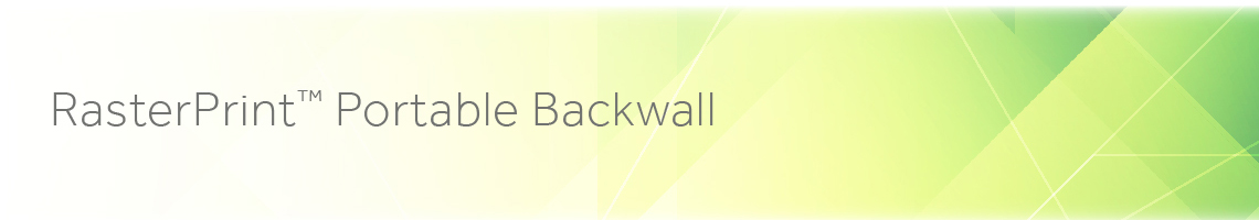 RasterPrint Portable Backwall Replacement Graphics